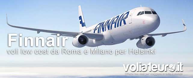 Finnair voli low cost da roma e milano per helsinki for Mobili low cost roma