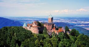 Il castello di Haut- Koenigsbourg in Alsazia