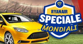 Noleggia un'auto per assistere ai Mondiali di Calcio 2018 con Ryanair con uno sconto del 50%