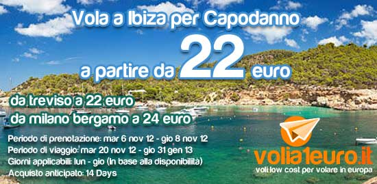 Vola a Ibiza per Capodanno!