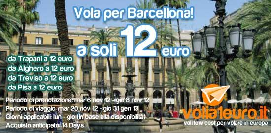 Vola da Trapani a Barcellona!