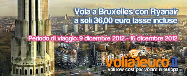 Vola a Bruxelles a soli 36 euro