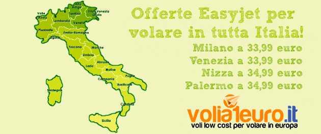 Offerte Easyjet per volare in tutta Italia!