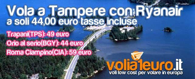 Vola a Tampere a soli 44 euro