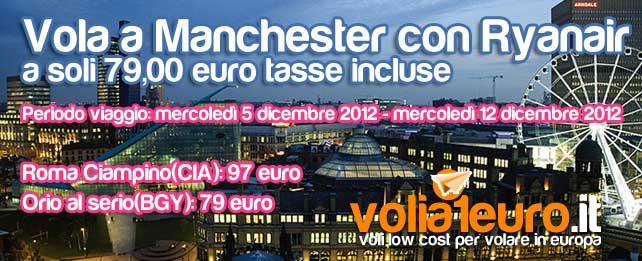 Vola a Manchester per soli 79 euro