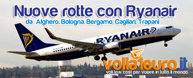 Nuove rotte con Ryanair