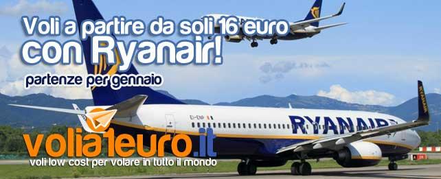 Voli a partire da soli 16 euro, con Ryanair!