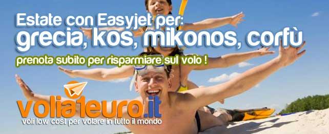 Estate in Grecia con Easyjet
