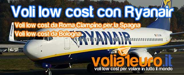 Voli low cost con Ryanair
