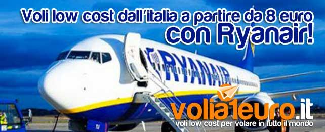 Voli low cost dall'italia a partire da 8 euro