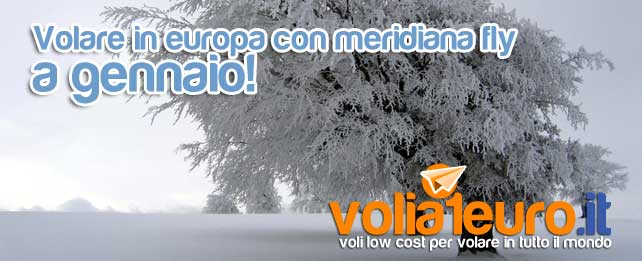Volare in europa con meridiana fly