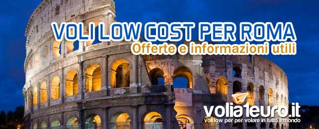 Voli low cost per Roma