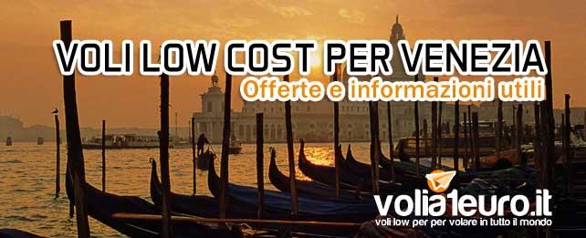Voli low cost per Venezia