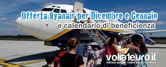 Offerte Ryanair per Dicembre e Gennaio