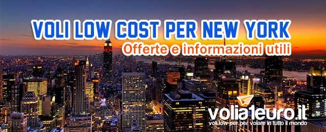 voli low cost per New York