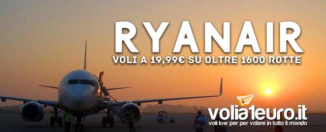 ryanair voli low cost a partire da 19,99 su oltre 1600 rotte