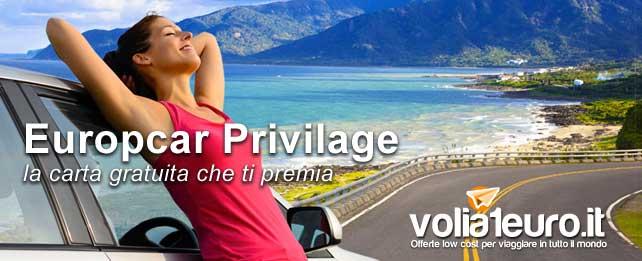 Europcar Privilage: la carta gratuita che ti premia