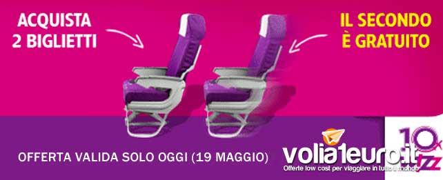 Prenota per 2 con wizz Air, il secondo biglietto non lo paghi!