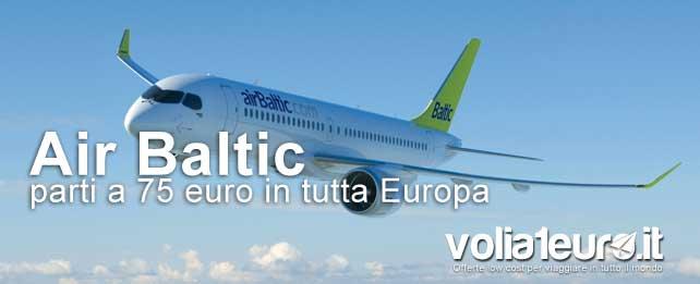 offerte voli per l'europa con air baltic