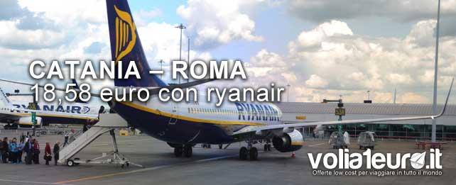 catania-roma con ryanair