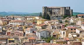 La piccola fortezza di Melfi in Basilicata